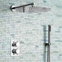 Set de ducha de pared de 1 y 2 vías