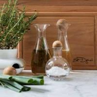 Botellas de aceite y vinagre