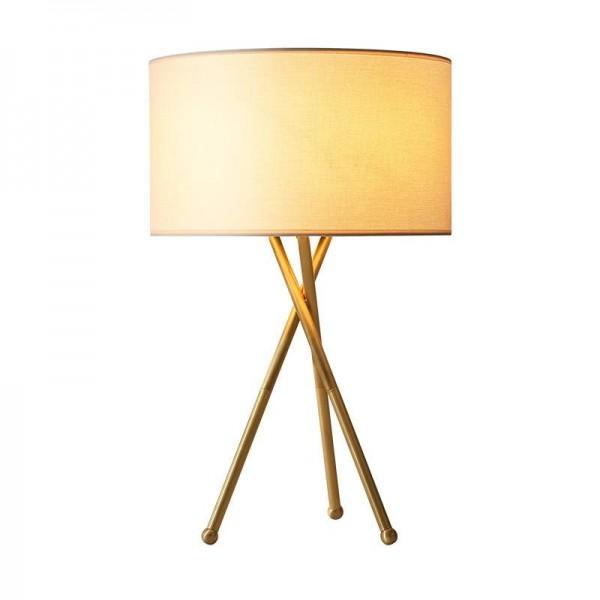 Lámparas de mesa de latón real de estilo americano, vestíbulo simple, estudio de dormitorio, lámparas de lectura doradas, lámpara de noche creativa, bombillas E27