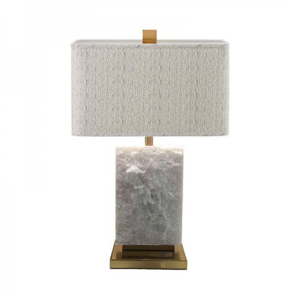 Lámpara de mesa de estilo americano Rural Mármol Hierro E27 bombilla led de color dorado metal arte decotación de lujo Sala de estar Dormitorio luz