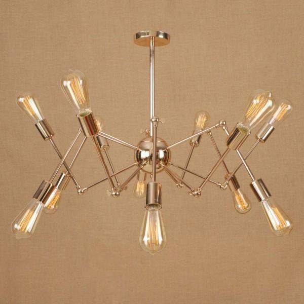 Europa Oro araña de plata araña 6-16 cabeza Moderna sencilla de hierro forjado lámpara de techo colgante creativa para restaurante cafe deco