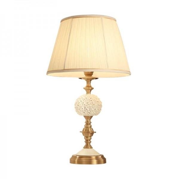 Europa Rosa luces de cerámica lámparas dormitorio decoración de la lámpara lámpara de tela blanca estudio de lectura LED accesorio de iluminación