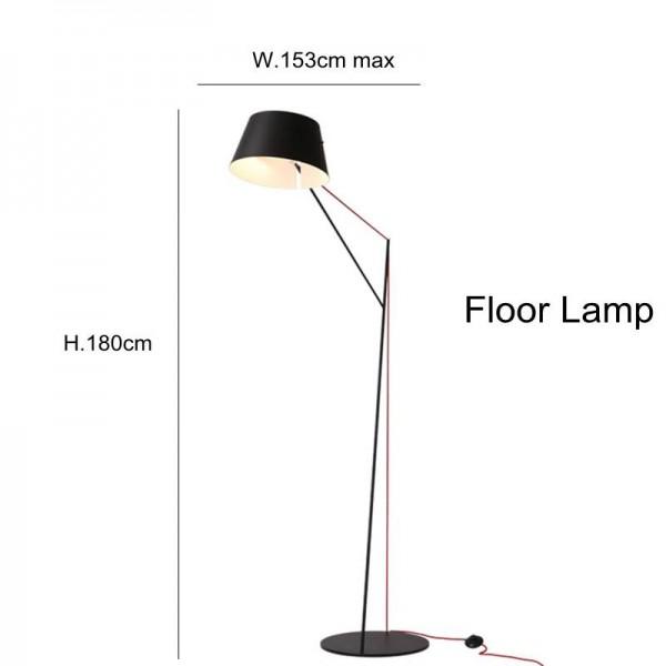 Lámpara de pie industrial Nordic American Creative Studio Lámpara de piso Lámpara de luz negra brazo largo salón comedor sala de lectura