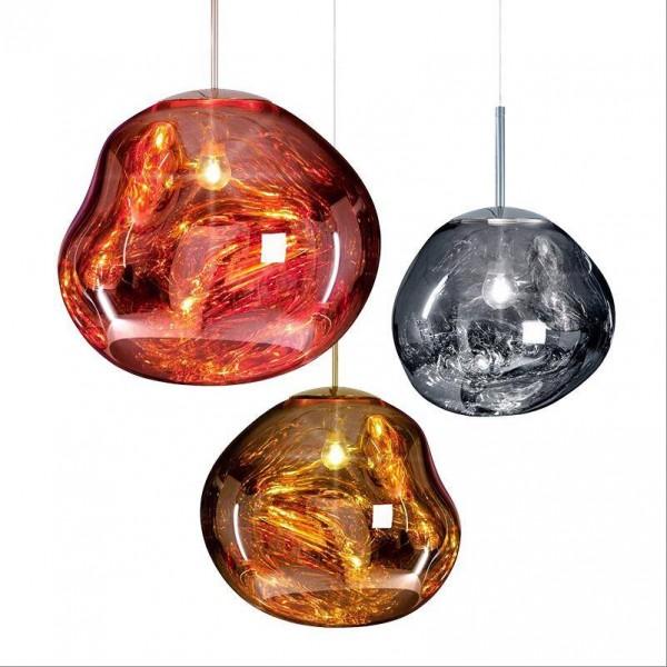 Luces colgantes modernas de lava mágica de cobre Tom Dixon Melt Glass Lámpara colgante transparente Originalidad clásica Lámpara de salón Hanglamp