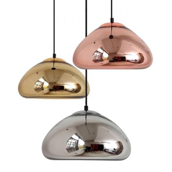 Cristal moderno Luces colgantes de diámetro 18 cm 30 cm chapado en Oro Plata Cobre espejo de cristal Lámpara Colgante Para Comedor Dormitorio de la cocina