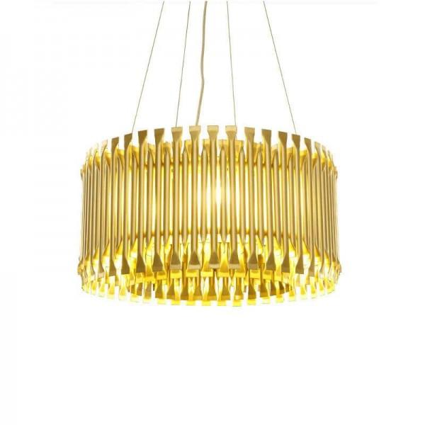 Lámpara colgante LED moderna de color dorado G9 lámpara Tubo de aleación de aluminio Suspensión contemporánea Luminaria Proyecto hanglamp