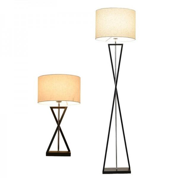 Lámpara de pie LED minimalista moderna Lámpara de pie simple Ahorro de energía Sala de estar Lectura Iluminación Luz de piso negro blanco