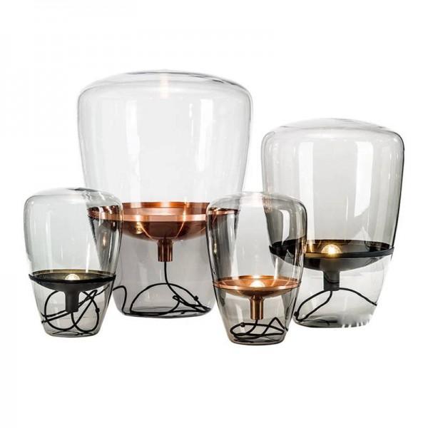 Lámpara de pie de cristal nórdico dormitorio de diseño simple lámpara de cabecera lámpara de mesa creativa estudio sala de estar de pie accesorios de iluminación apropiado