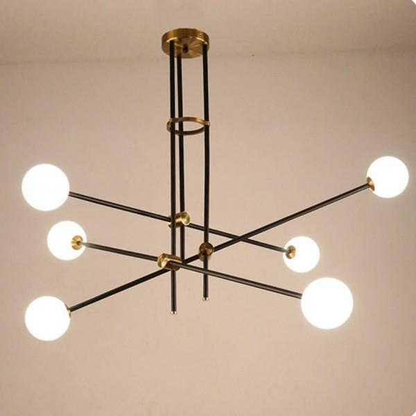 Nordic Magic Bean lámpara colgante moderna Minimalista Bola de Cristal Ajustable araña Creativa Salón Comedor Iluminación