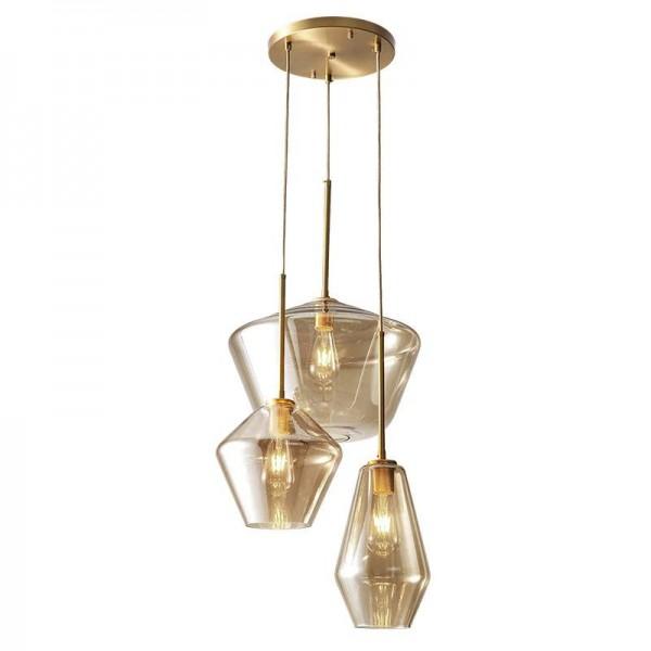 Nordic post modern LED luces colgantes de vidrio salón de cobre completo en el comedor dormitorio estudio droplight claro y copa de champán