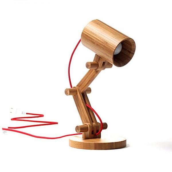Lámpara de mesa de madera nórdica con lámpara led led E27 Lámpara de madera lamparas de mesa Escritorio Luz Decoratio Para la sala de estar