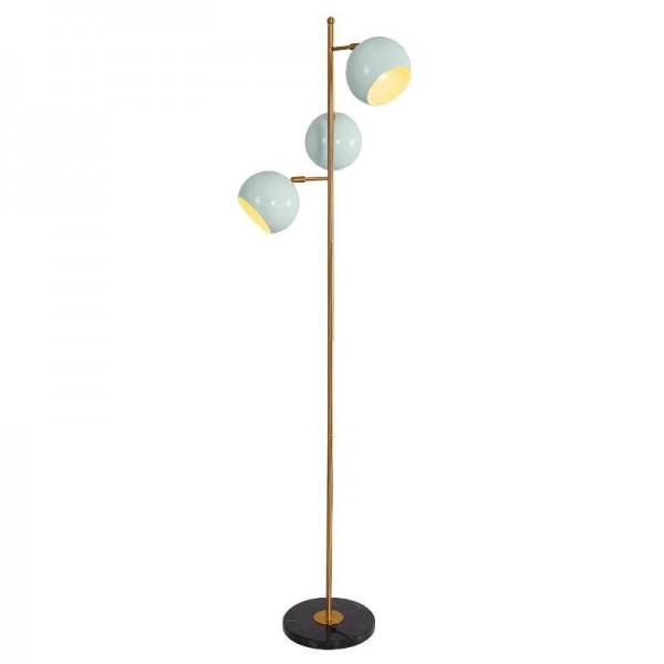 Poste moderno lámparas de pie decoración de la sala de metal antiguo oro lámpara cuerpo Hierro bola pantalla dormitorio bediade iluminación LED