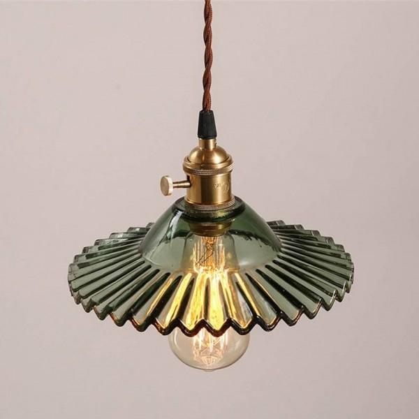 Lámpara colgante de vidrio vintage dia 22cm pantalla lámparas estilo americano lámparas colgantes para retaurant bar iluminación industrial