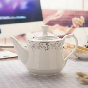 1000 ml / 1600 ml Moderno Pote de filtro Porcelana de cerámica Manijas Tetera / Hogar Utensilios para beber Gran capacidad Jugo Agua Café Hervidor