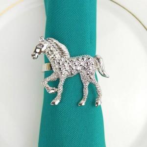 10 unids / lote oro rosa perla navidad ciervos servilleta anillo de metal hebilla de tela paño servilleta anillo anillo de servilleta