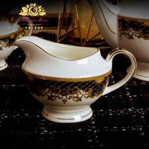 Taza de café de hueso de 15 PIEZAS Taza de té de cerámica de estilo europeo Juego de café taza de la tarde inglesa