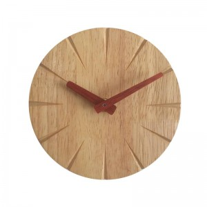 15 cm Creativo reloj de pared de madera maciza sala de estar personalidad simple moderno reloj DIY dormitorio ultra silencioso pequeño reloj de pared