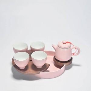180 ml Breve Rosa Tetera De Porcelana de Cerámica Oficina Juego de Té Kung Puer Tieguanyin Teteras Hechas A Mano Drinkware Enviado Regalos Amigo