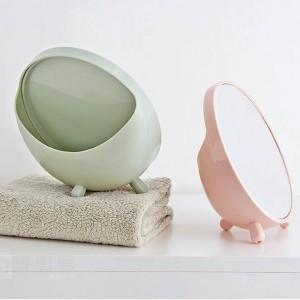 1 UNID Espejo de maquillaje de escritorio espejo de vanidad redondo dormitorio dormitorio escritorio espejo portátil princesa espejo wx8291807