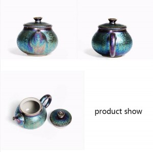 200 ml de esmalte creativo colorido tetera de cerámica arte Xishi olla decoración hervidor ollas Drinkware Teaware Crafts Collection Boutique