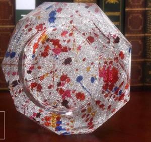 Nueva artesanía cenicero creativa, regalos decorativos, diámetro de 0.15 metros.