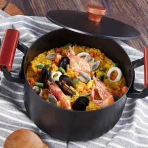2019 el más nuevo de alta calidad olla de sopa familiar 4.5L olla de hierro fundido olla de cocción para cocina de inducción de estufa de gas