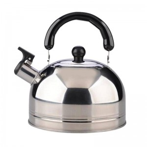 2.5L Whistling Water Kettle Cooker Thicken Steel Steel Whistle Tea Coffee Kettle Water Bottle For Travel Camping