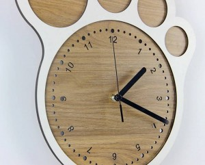 33 * 30 cm Arte simple reloj creativo Relojes de pie Reloj de pared dormitorio sala de estar relojes silenciosos Decoración de pared