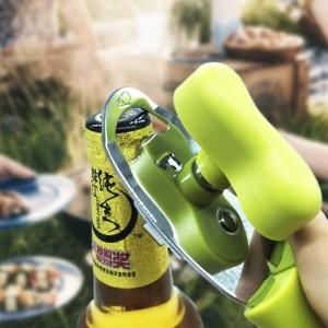 Abrebotellas manual de acero inoxidable 4 en 1 Mango de botella de diseño ergonómico Abrebotellas de metal de borde afilado duradero