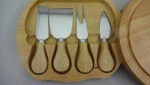 Cuchillo de queso 4pcs en caja de madera, cuchillo de queso
