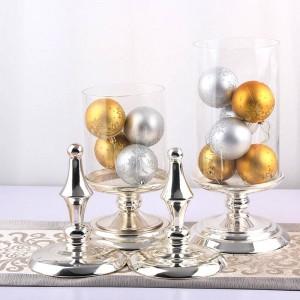 50 cm de alto frasco de caramelo de vidrio Almacenamiento de metal europeo de alta calidad puede banquete de boda decoración de la mesa contenedor de almacenamiento de alimentos botella