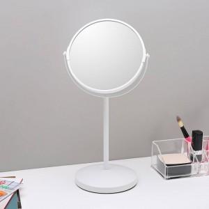 Espejo de maquillaje de 6.5 pulgadas escritorio simple espejo decorativo espejo de doble cara espejo de tocador con lupa wx8161450