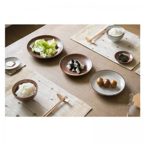 7pcs / set Estilo japonés Promoción conjunto de cena de cerámica procelain SETS DE MESA AZUL INCLUYEN PLATO BOWL Juego de cena para amantes de 7 piezas