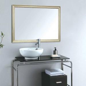 A1 espejo de baño europeo borde estrecho hogar colgante de pared sala de estar espejo de maquillaje wx8221449