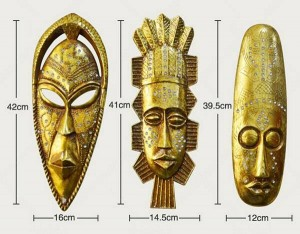 Nación africana de personas como máscara de resina imagen colgante de pared decoración para el hogar etiqueta de la pared