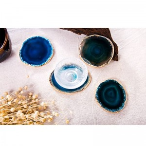 Diseño decorativo decorativo de la bandeja de la taza de té de Agate Coaster