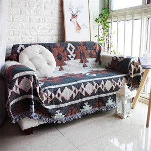 Todos coinciden con la manta de tiro de estilo exótico Hilo de algodón Funda de sofá Funda de funda geométrica Cobertor Mantas suaves para camas Borla
