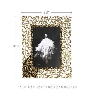 Marco de fotos de aleación de aluminio Marco de fotos de metal Marco de mesa decorativo Marco de fotos de vidrio transparente real