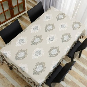 Diseño asombroso Tela de tabla bordada Lujo Fino Precioso Borla Toalha De Mesa Euro Mantel Royal Dinning Table Covers