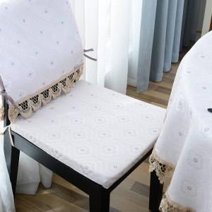 Increíble mantel redondo Jacquard Dot Mantel de lujo Decoracao Para Casa Beige Lace Edge Toalha De Mesa Tapete Table Cover