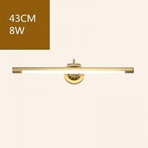 Luces delanteras de espejo de cobre americano para inodoro de baño LED Lámpara de gabinete Lámpara colgante de maquillaje Home Deco Aplique de pared Aplique de luz