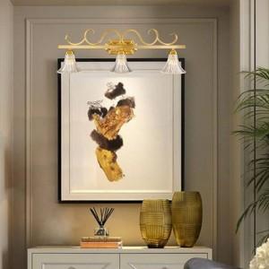 American County TOILET Espejo Frontal lámpara de pared Cobre Europeo Ducha de vidrio a prueba de agua Accesorios de iluminación LED