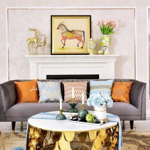 Candelabro de mármol americano de lujo Candelabro Decoración Sala de muestras Mesa Inicio Candelabro Adorno Regalo Gaiolas Decorativas