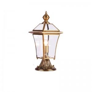 Estilo americano Todo cobre Paisaje Iluminación Villa jardín porche lámpara Patio exterior Lámpara de pastizales Iluminación impermeable al aire libre