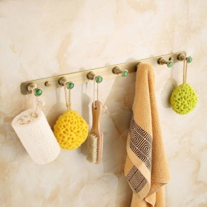 Antiguo broche de latón cepillado, gancho para la ropa, accesorios de baño, bata, ganchos para montaje en pared, accesorio de baño, gancho 2314A