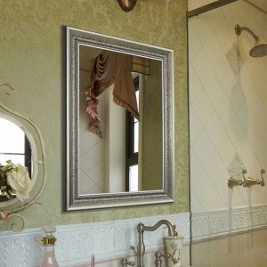 Espejo de baño Retro montado en la pared espejo cuadrado dormitorio espejo de maquillaje wx8221416