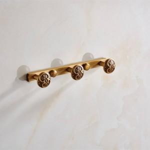 Ganchos de talla de pared de baño 3-6 Fila Gancho de abrigo Perchas Ganchos de puerta para accesorios de baño Comercial 9061K