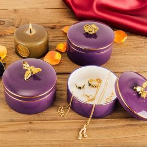 Joyero de abeja Collar Collar Anillo Tarro de almacenamiento Brazalete europeo Caja de almacenamiento Regalos de novia