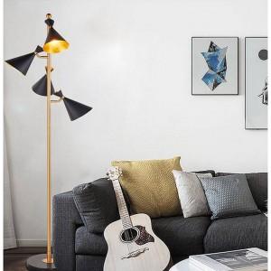 Lámpara de pie LED Lámpara de pie moderna americana Sala de estar Piso Hotel Iluminación Lámpara de pie E27 Bombilla LED de DHL