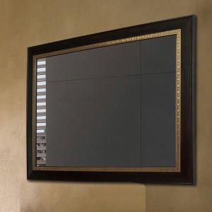 Espejo de baño de madera de nogal negro cuadrado colgante de pared espejo de maquillaje espejo de la sala wx8221431